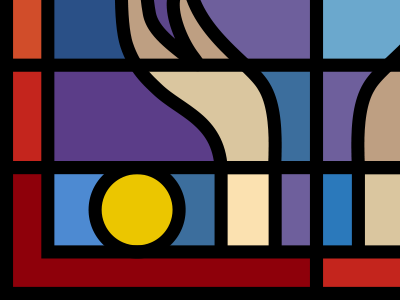 Tongues Teaser tongues stainedglass glass stained window illustration line outline lines icons