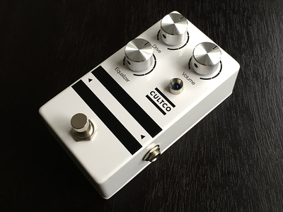 Cultco 001 Medium Overdrive Pedal knobs white black design product cultco overdrive pedal guitar