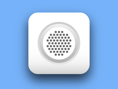 Howly Icon icon ios blue white clean juicy sound