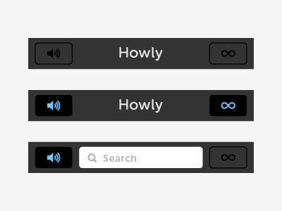 Top Nav top nav navigation ios app sound buttons button icons speaker icon speaker infinity icon infinity ui ui design ux ux design interface selected deselected search search bar nav bar