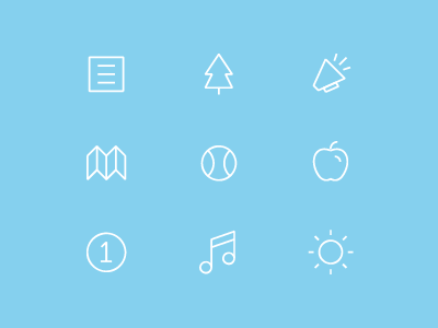 Icons iphone icon icons ui ux user experience user interface ios news nature opinion voice map discover explore travel sports baseball tree apple food 1 first music sun weather app