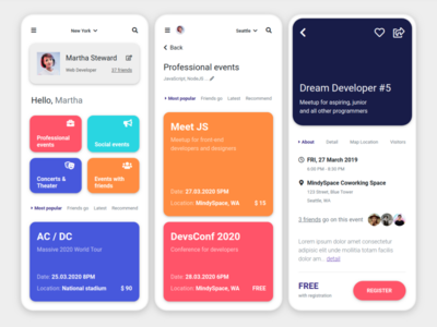 Event App inspired by Material Design