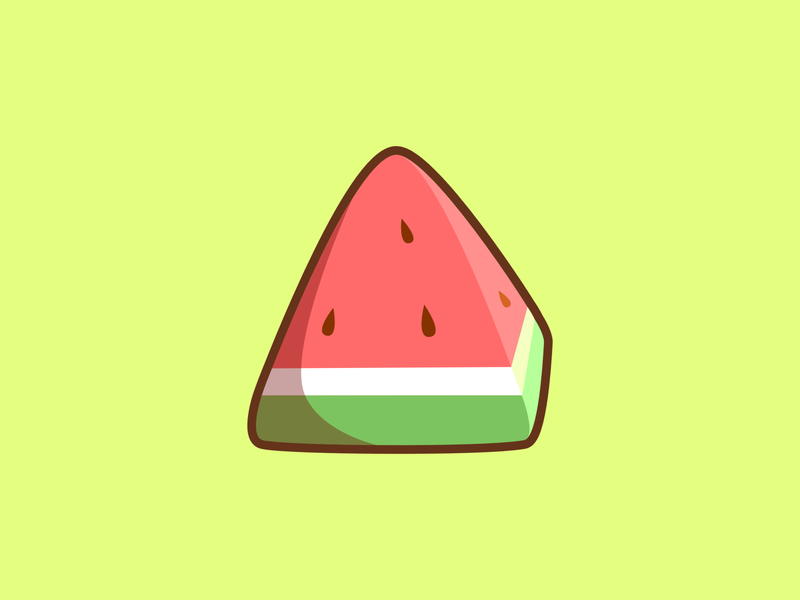 Watermelon art cute branding vectors minimal vector logo illustrations design graphic design simple fruit watermelon red green
