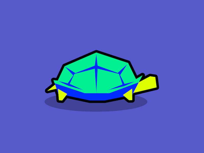 Turtle simple polygon minimal illustration graphic design geometric flat edgy design reptile animal turtle
