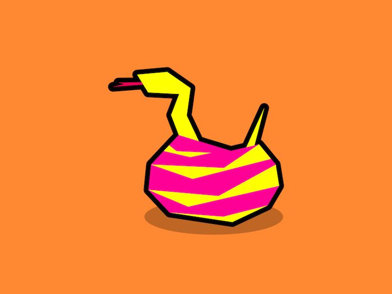 Snake design graphic design minimal polygon simple flat geometric illustration cute reptile animal snake