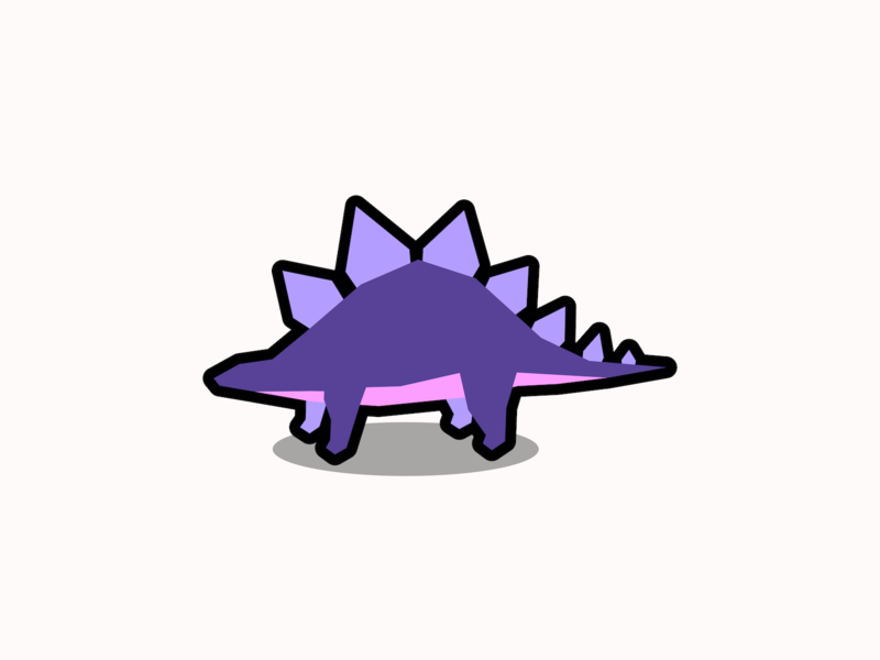 Stegosaurus minimal graphic design geometric flat design animal simple polygon illustration dinosaur stegosaurus