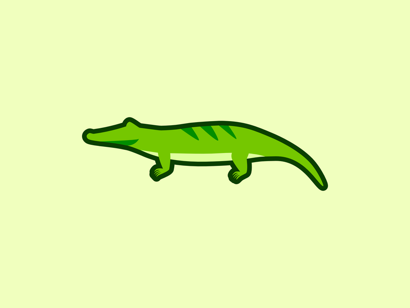 Crocodile reptile green crocodile vector branding logo art cute design graphic design animal minimal flat illustration simple