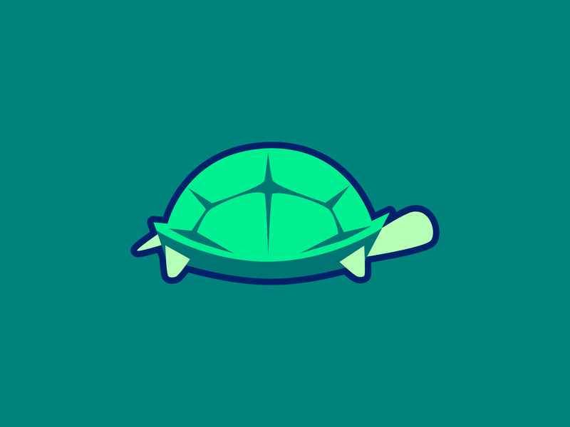 Turtle simple illustration flat minimal animal graphic design design cute art logo branding vector turtle green reptile