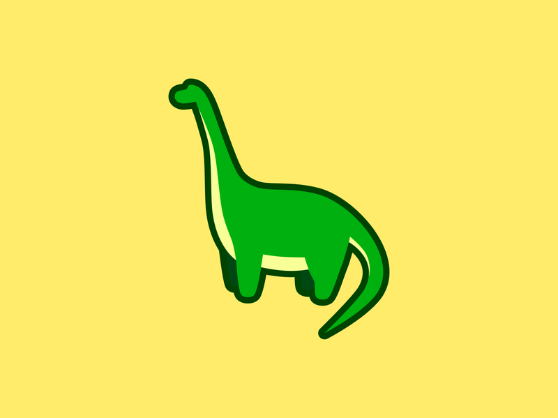 Brontosaurus animal logo flat vector simple green minimial animal illustration graphic design dinosaur design animals brontosaurus