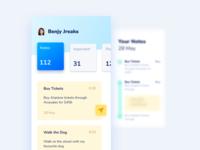 Notes App product design depth cool colors notes app ui design