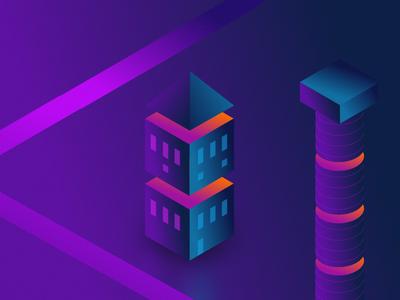 Simple Purple Hut