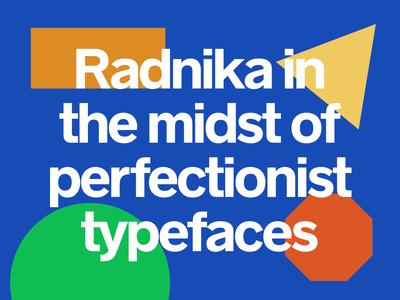 Radnika Typeface headline type 50s modern workhorse sans serif hdcfonts typography typeface font