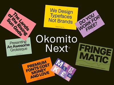 Okomito Next Typeface workhorse sans serif modern type typography hdcfonts typeface font