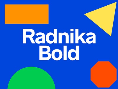 Radnika Bold hdcfonts typography type font typeface radnika
