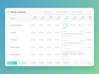 Weekly Timesheet Light UI