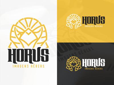 Horus Aerial Images - Logo sign mark identity aerial aircraft drone design bird horus logo