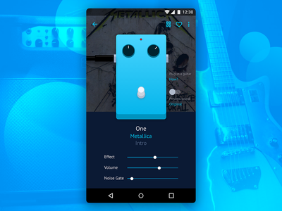 Guitar Pedal App trend metallica music guitar pedal android mobile app ux ui
