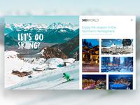 Ski Website - Homepage