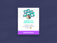 PartyApp - Invite Popup