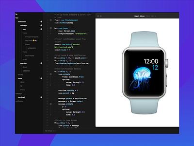drops.  - Apple Watch Notification Concept notification framer studio framer js framer prototype animation applewatch watch app fintech