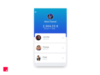 InVision Studio — FinTech app concept and character animation