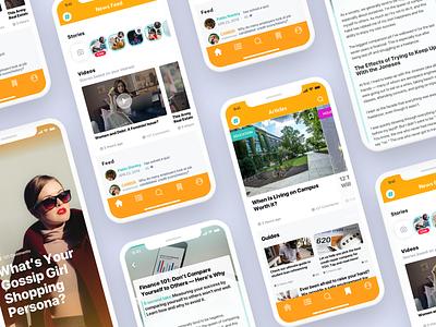 Financial Edutainment App orange iphone finance ui  ux 2d mobile concept app uidesign fintech