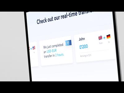 Transferwise Teaser Video Concept data realtime motion animation hackathon banktransfer money payment mobilepayment transfers fintech concept transferwise showcase aftereffects video teaser