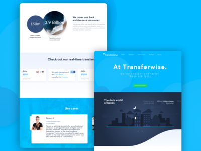 Fintech Landing page Concept