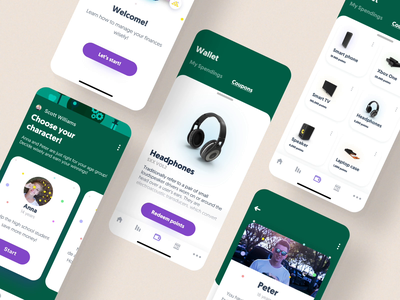 Financial Education  | iOS app branding ui mobile animation iphone 11 banking app money management money coupons edutainment education ios finance fintech banking concept bank