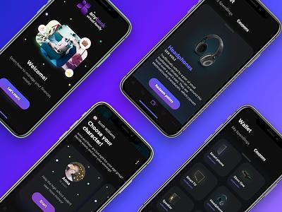 Dark mode | iOS app concept dark app clean leftaligned marketplace minimalism dark mode wallet bank financial fintech dark ui darkmode dark gamification coupons
