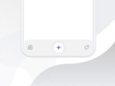 Bouncy tabbar concept interaction fintech gif social flat design tabs bounce tabbar motion animation principle