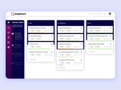 Dashboard Concept for Designers I Web