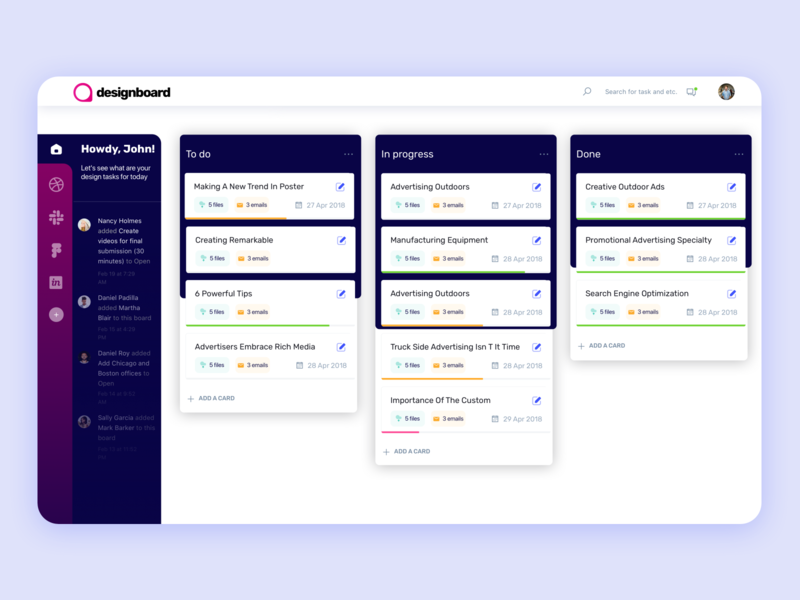 Dashboard Concept for Designers I Web web ux ui dashboard ui rubik home chart app data concept kanban invision dribbble figma dashboard