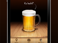 Beer radar (home screen)