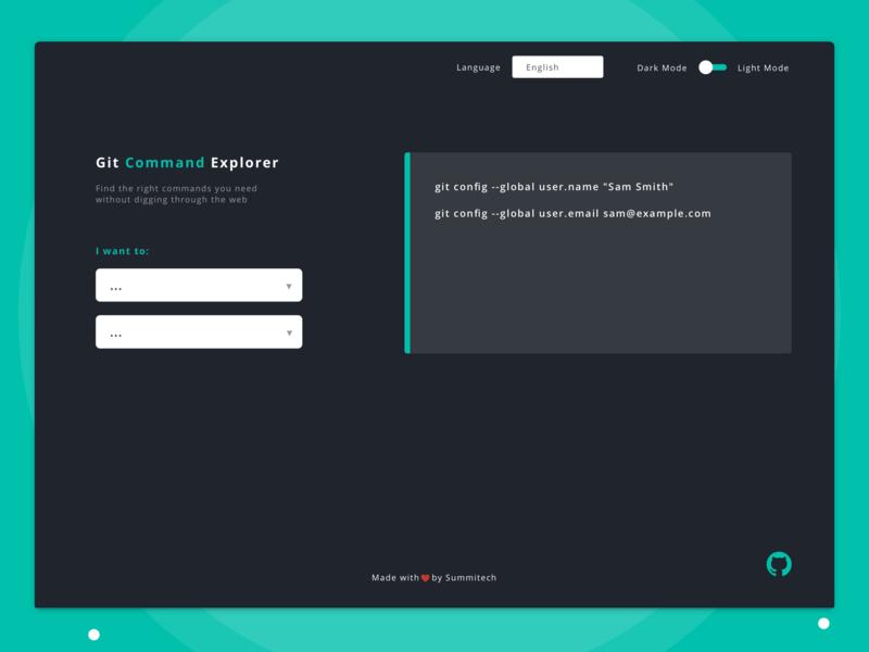 Git Explorer by Dante Lex on Dribbble