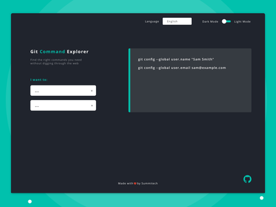Git Explorer commands git tools developer