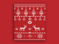 Christmas Sweater Card 🦌 - Happy Holidays