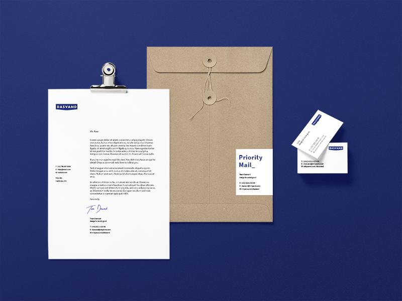 Dasvand / Brand Kit cards illustrator wordmark logotype art graphic stationery visual symbol logo identity brand