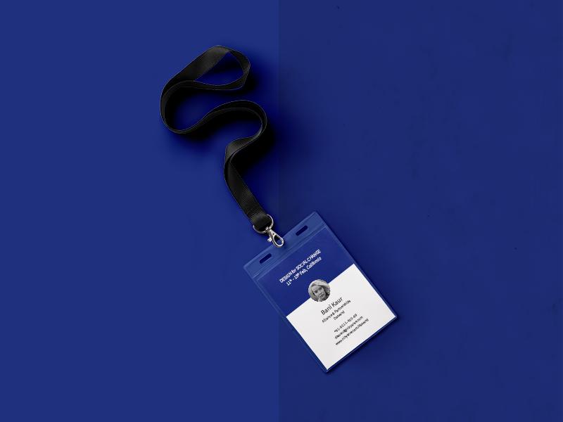 Dasvand / ID Card illustrator branding visual blue card id stationery symbol logo identity brand