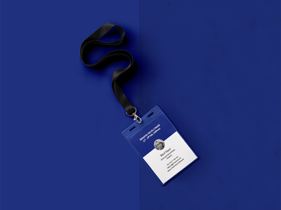 Dasvand / ID Card illustrator branding visual blue card id stationery symbol logo identity brand