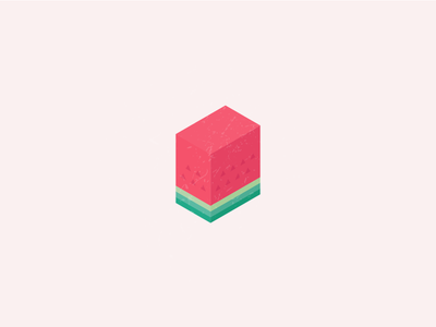 The Watermelon 🍉 3d identity logo watermelon texture isometric fruits red visual branding illustrator tropical