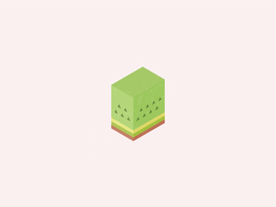The Kiwi 🥝 3d identity logo kiwi texture isometric fruits green visual branding illustrator tropical