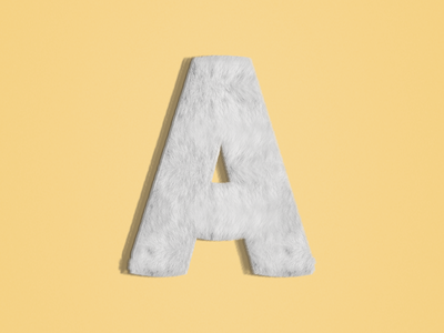 A : 36 Days of Type 🔡 lettering branding vector design logo illustration 36daysoftype typography type alphabets texture fur