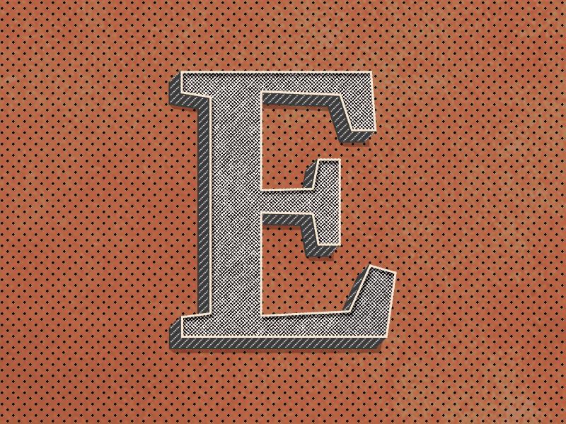 E : 36 Days of Type 🔡 lettering branding vector design logo illustration 36daysoftype typography type alphabets gradient retro