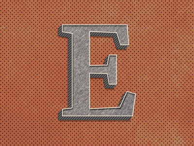 E : 36 Days of Type 🔡 lettering branding vector design logo illustration 36daysoftype typography type alphabets gradient retro