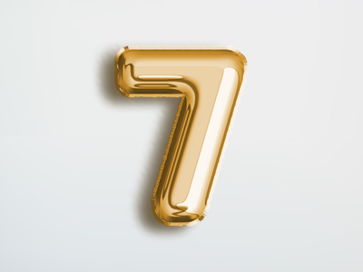 7 : 36 Days of Type 🔢 balloon foil numbers type typography 36daysoftype illustration logo design vector branding lettering