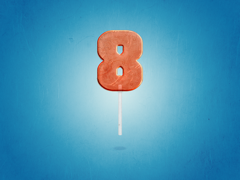 8 : 36 Days of Type 🔢 candy lettering branding vector design logo illustration 36daysoftype typography type numbers lollipop
