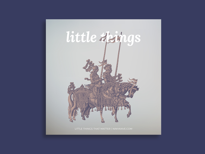 Cover Art : little things 📝 lettering branding vector design logo illustration vintage typography type art album shadow