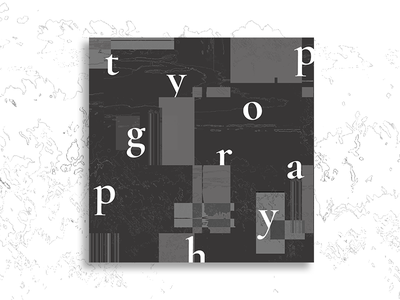 Cover Art : Typography 🖋 | Vol. I shadow album art type typography dark illustration logo design vector branding lettering