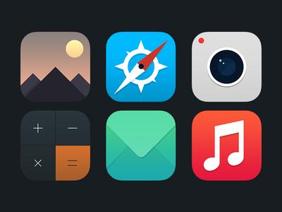 Ios 7 icons icons app ios 7 ios 7 icons camera safari photos mail music e-mail app calculator iphone icons